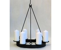 OILB.BLOCKCANDLERING 6  CANDLES 40CM 5 HOOKS