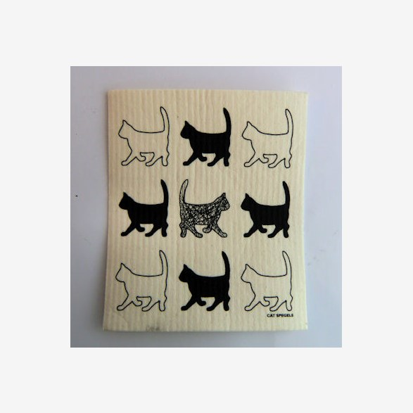 DISHRAG 9 BL.CATS