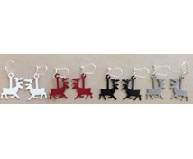 EARRING PAR IRON REINDEER 23 MM