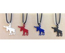 CHARM MOOSE WITH LEATRHER RIBBON 22MM