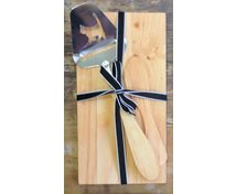 TRAY ALDER WITH KNIFE CHEESESLICER S AND RIBBON