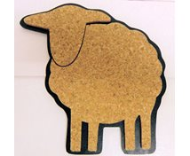 POTRACK SHEEP CORK 20CM BLACK
