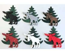 MOOSE/CHRISTMAS TREE 10CM WITH MAGNET