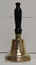 BELL BRASS WITH BLACK HANDLE 15CM