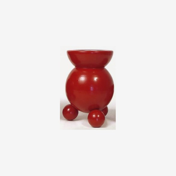 BLOCK CANDLEHOLDER 50MM CANDLE H.13CM RED