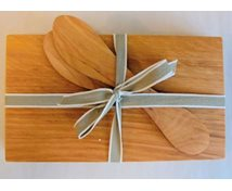 SET 2 PLATES/KNIVES ALDER 100X170X10MM