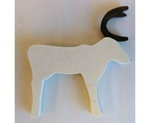 REINDEER W.MAGNET 90MM WHITE