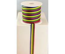 RIBBON 12MM RED/GREEN/YELLOW/BLU
