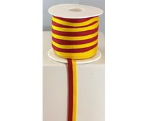 RIBBON 10MM YELLOWRED