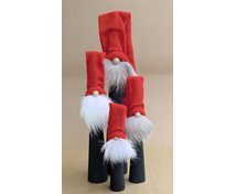 LONG SANTA BLACK WITH RED HAT