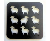 POTRACK 9 LAMBS 18X18CM BLACK