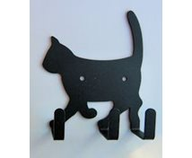 CAT WALLHOOK 3 HOOKS BLACK