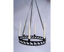 CANDLERING HANG FOR 6 CANDELS  HORSES 40 CM